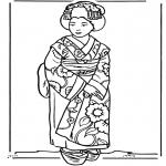 Allerlei Kleurplaten - Japans meisje