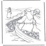 Kleurplaten Bijbel - Jezus aan het water