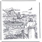 Kleurplaten Bijbel - Jezus die Simon en Andreas riep