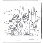 Kleurplaten Bijbel - Jezus  en Johannes de Doper 2