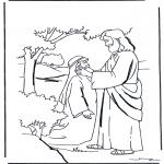 Kleurplaten Bijbel - Jezus geneest een dove