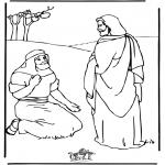 Kleurplaten Bijbel - Jezus geneest