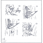 Kleurplaten Bijbel - Jezus in de storm