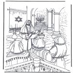 Kleurplaten Bijbel - Jezus in de tempel