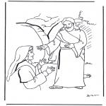 Kleurplaten Bijbel - Jezus is opgestaan