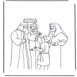Kleurplaten Bijbel - Jezus op zijn twaalfde