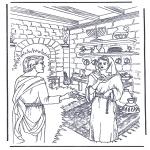Kleurplaten Bijbel - Jezus wordt gezalfd