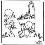 Stripfiguren Kleurplaten - Jip en Janneke 2