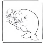 Kleurplaten Bijbel - Jona en de walvis