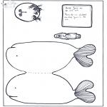 Kleurplaten Bijbel - Jona met walvis
