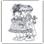 Allerlei Kleurplaten - Jongen en meisje