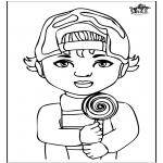 Kinderkleurplaten - Jongetje 1