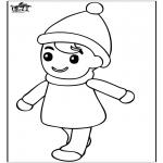Kinderkleurplaten - Jongetje 2