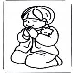 Allerlei Kleurplaten - Jongetje bidt