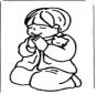 Jongetje bidt