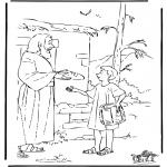Kleurplaten Bijbel - Jozef brengt eten