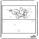 Knutselen - Kaart baby 4