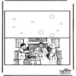 Knutselen - Kaart dopen