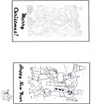 Kerst Kleurplaten - Kaart fijne Kerst