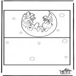 Thema Kleurplaten - Kaart geboorte 2