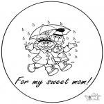 Knutselen - Kaart voor mama