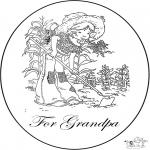Knutselen - Kaart voor opa