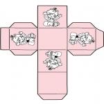 Thema kleurplaten - Kado doosje baby