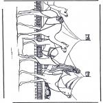 Kleurplaten Dieren - Kamelen