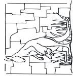 Kleurplaten Dieren - Kangoeroe 1