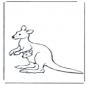 Kangoeroe en jong