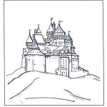 Stripfiguren Kleurplaten - Kasteel van Disney