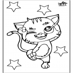Kleurplaten Dieren - Kat 3