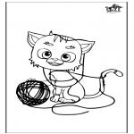 Kleurplaten Dieren - Kat 5