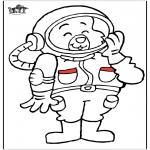 Allerlei Kleurplaten - Kat ruimtevaarder