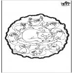 Mandala Kleurplaten - Katten mandala
