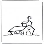 Kleurplaten Bijbel - Kerkje 1