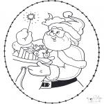 Kerst Kleurplaten - Kerst borduurkaart 22