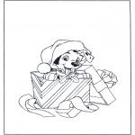 Kerst Kleurplaten - Kerst dalmatiër