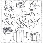 Kerst Kleurplaten - Kerst doolhof 4