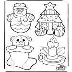 Kerst Kleurplaten - Kerst hangers 1
