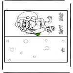 Kerst Kleurplaten - Kerst kaart 16