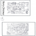 Kerst Kleurplaten - Kerst kaart 2