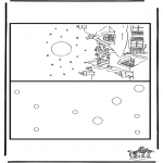 Kerst Kleurplaten - Kerst kaart 7