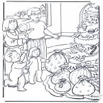 Kerst Kleurplaten - Kerst kadootjes