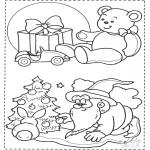 Kerst Kleurplaten - Kerst kleurplaat 1