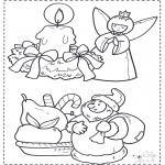 Kerst Kleurplaten - Kerst kleurplaat 2
