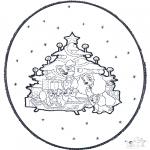 Kerst Kleurplaten - Kerst Prikkaart 1