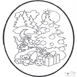 Kerst Kleurplaten - Kerst prikkaart 12