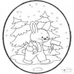 Kerst Kleurplaten - Kerst Prikkaart 18