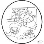 Kerst Kleurplaten - Kerst Prikkaart 21